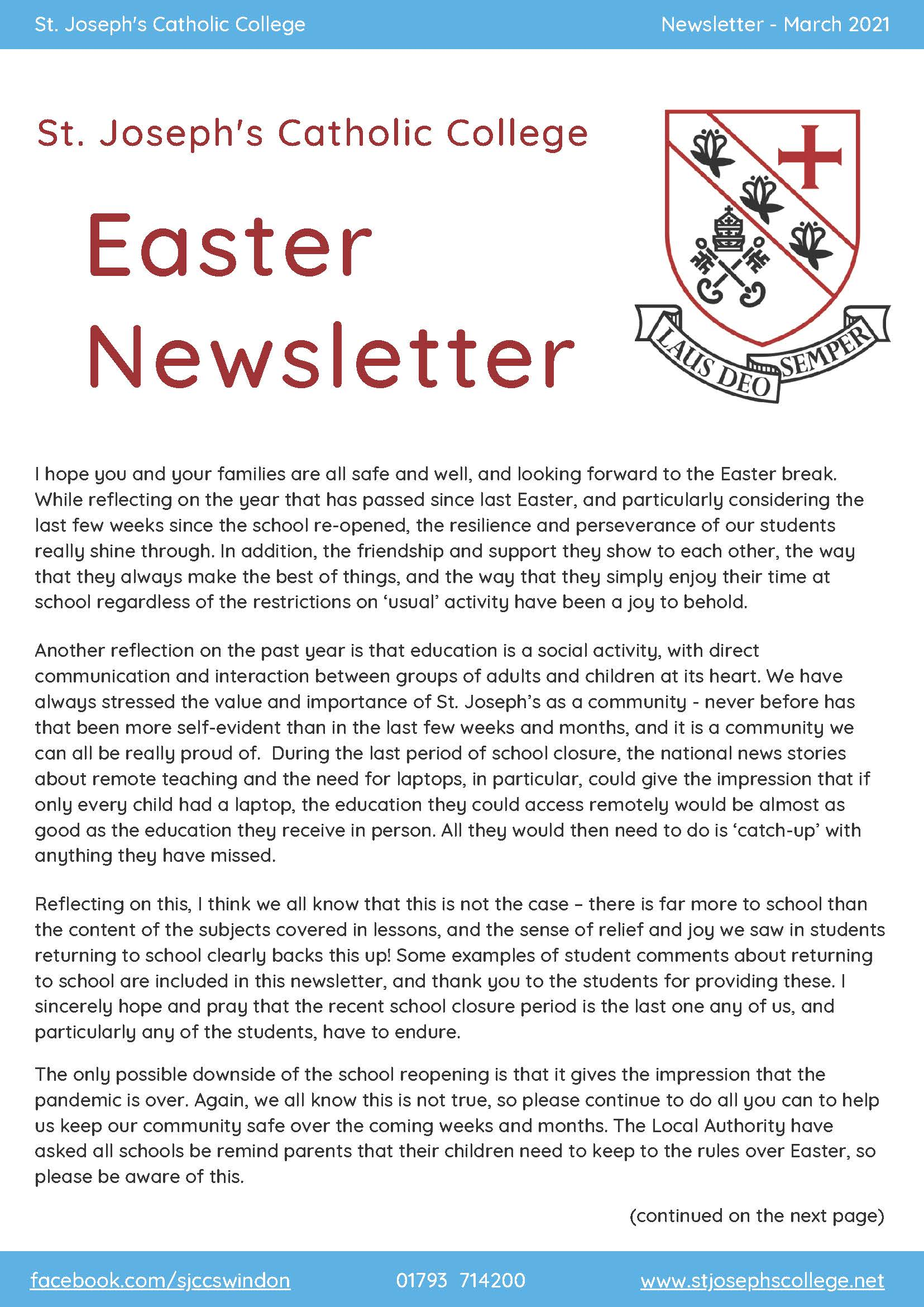 Reduced SJCC EASTER NEWSLETTER V4 Page 01