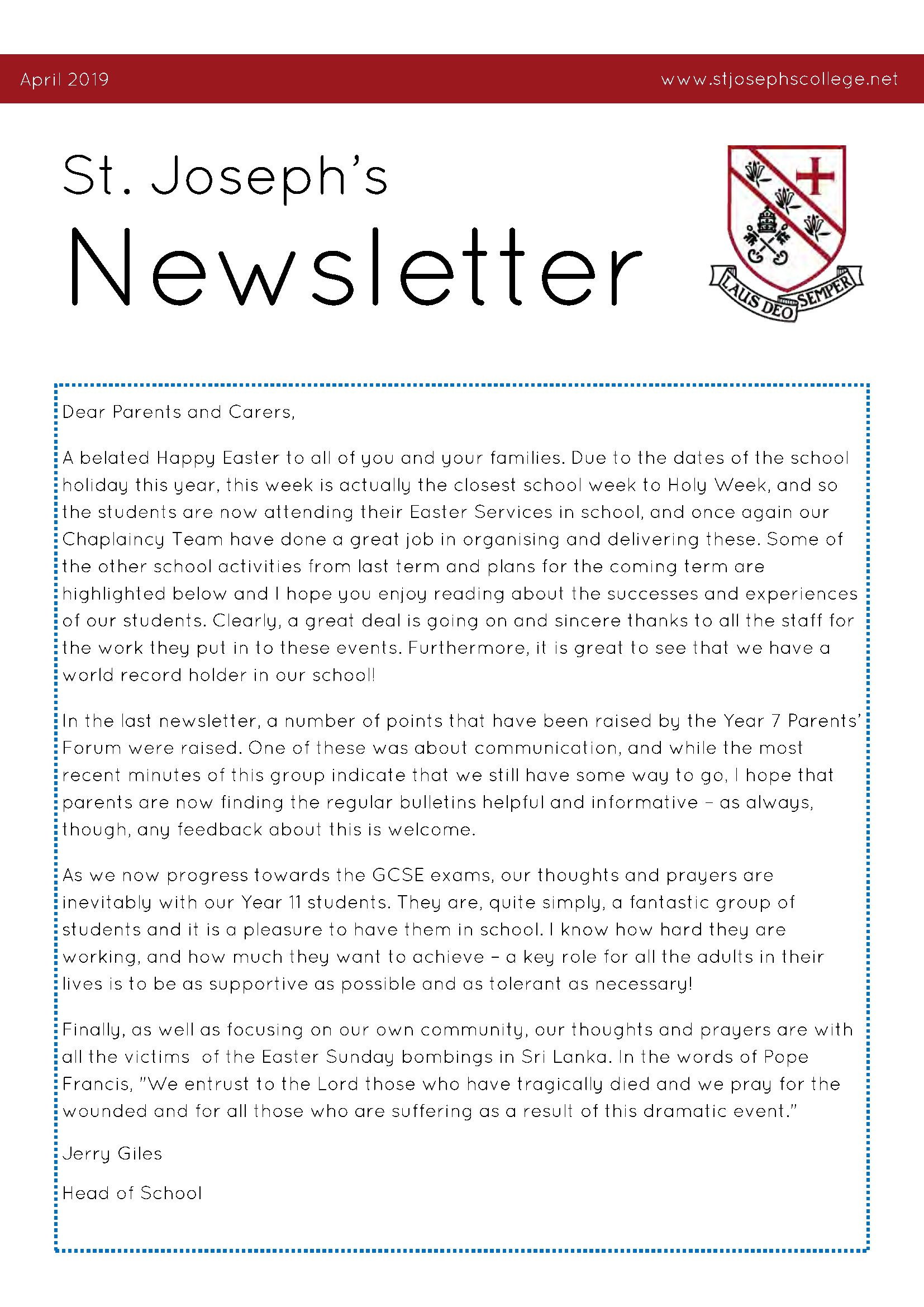 SJCC Newsletter April 2019New Page 1